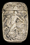 Silver Smalls:Match Safes, A BRISTOL SILVER-PLATED MATCH SAFE . Bristol Silver Co., Taunton,Massachusetts, circa 1895. Marks: BRISTOL SILVER. 2-1/...