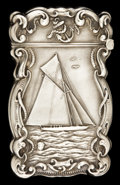 Silver Smalls:Match Safes, AN AMERICAN SILVER MATCH SAFE . Circa 1900. Marks: STERLING,925/1000. 2-5/8 inches high (6.7 cm). 0.8 ounce. ...