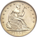 Proof Seated Half Dollars, 1853 50C Arrows and Rays PR65 PCGS Secure. CAC....