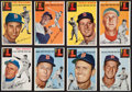 Baseball Cards:Lots, 1954 Topps Boston Red Sox Collection (17) With Both Ted Williams....