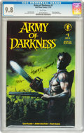 Modern Age (1980-Present):Horror, Army of Darkness #1 Signed by Bruce Campbell (Dark Horse, 1992) CGCNM/MT 9.8 White pages....