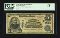 National Bank Notes:District of Columbia, Washington, DC - $5 1902 Date Back Fr. 592 The District NB Ch. # (E)9545. ...