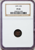 Proof Three Cent Silver: , 1870 3CS PR65 NGC. NGC Census: (35/30). PCGS Population (27/20).Mintage: 1,000. Numismedia Wsl. Price for problem free NGC...