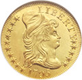 Early Half Eagles, 1795 $5 Small Eagle MS63 ★ NGC. CAC. Breen-6412, BD-3, High R.3....