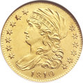 Early Half Eagles, 1810 $5 Small Date, Tall 5 MS63 NGC. CAC. Breen-6462, BD-1, HighR.3....
