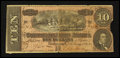 Confederate Notes:1864 Issues, H. Choate Dry Goods Winona, Minnesota T68 $10 1864 Ad Note.. ...