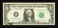 Error Notes:Printed Tears, Fr. 1912-G $1 1981A Federal Reserve Note. About Uncirculated.. ...