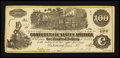Confederate Notes:1862 Issues, Virginia Exposition T39 $100 1862 Ad Note.. ...