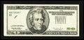 Error Notes:Obstruction Errors, Fr. 2083-B $20 1996 Federal Reserve Note. Very Fine-ExtremelyFine.. ...