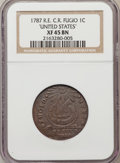 1787 1C Fugio Cent, Club Rays, Rounded Ends XF45 NGC. NGC Census: (6/12). PCGS Population (5/11). (#904)...(PCGS# 904)