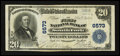 National Bank Notes:Pennsylvania, South Fork, PA - $20 1902 Plain Back Fr. 650 The First NB Ch. # 6573. ...
