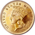 Proof Three Dollar Gold Pieces, 1875 $3 PR64 PCGS. CAC....