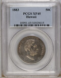 Coins of Hawaii: , 1883 50C Hawaii Half Dollar XF45 PCGS. PCGS Population (33/308).NGC Census: (24/198). Mintage: 700,000. (#10991)...
