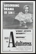 """Movie Posters:Drama, The Adulteress (Times, 1958). One Sheet (27"""" X 41""""). Film Noir. Starring Simone Signoret, Raf Vallone, Jacques Duby, Roland ..."""