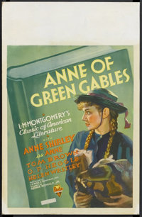 "Anne of Green Gables (RKO, 1934). Window Card (14"" X 22""). Drama. Starring Anne Shirley, Tom Brown and O.P. He..."