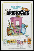 "Movie Posters:Animated, The Aristocats (Buena Vista, 1971). One Sheet (27"" X 41""). Animated Comedy. Starring the voices of Eva Gabor, Phil Harris, H..."