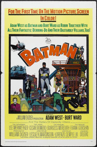 "Batman (20th Century Fox, 1966). One Sheet (27"" X 41""). Action Comedy. Starring Adam West, Burt Ward, Lee Meri..."