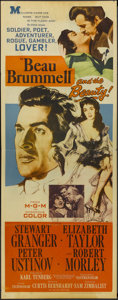 "Movie Posters:Drama, Beau Brummell (MGM, 1954). Insert (14"" X 36""). Drama. Starring Stewart Granger, Elizabeth Taylor, Peter Ustinov and Robert M..."