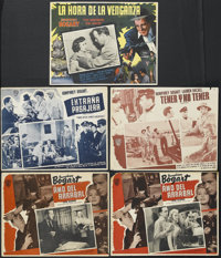 """The Big Shot (Warner Brothers, R-1950s). Mexican Lobby Cards (2) (12.5"""" X 16.5""""). Crime. Starring Humphrey Bog..."""