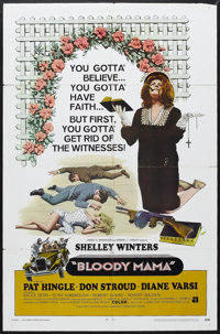 "Bloody Mama (AIP, 1970). One Sheet (27"" X 41""). Crime. Starring Shelley Winters, Pat Hingle, Don Stroud, Diane..."