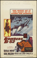 "Movie Posters:Drama, Bombers B-52 (Warner Brothers, 1957). Window Card (14"" X 22""). Drama. Starring Natalie Wood, Karl Malden, Marsha Hunt and Ef..."
