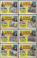 "Movie Posters:War, The Caine Mutiny (Columbia, 1954). Mexican Lobby Card Set of 8 (11""X 14""). War Drama. Starring Humphrey Bogart, Jose Ferrer... (Total:8 Items)"