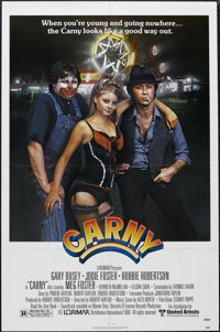 "Carny (United Artists, 1980). One Sheet (27"" X 41""). Romantic Drama. Starring Gary Busey, Jodie Foster, Robbie..."