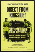 "Movie Posters:Sports, Cassius Clay vs. Floyd Patterson Boxing Poster (Allied Artists, 1965). One Sheet (27"" X 41""). Sports. Starring Cassius Clay ..."