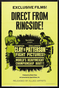 "Cassius Clay vs. Floyd Patterson Boxing Poster (Allied Artists, 1965). One Sheet (27"" X 41""). Sports. Starring..."