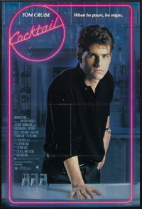 "Cocktail (Buena Vista, 1988). One Sheet (27"" X 41""). Romantic Comedy/Drama. Starring Tom Cruise, Bryan Brown..."