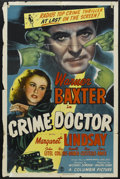 "Movie Posters:Crime, Crime Doctor (Columbia, 1943). One Sheet (27"" X 41""). Crime.Starring Warner Baxter, Margaret Lindsay, John Litel, Ray Colli..."