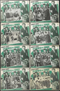 """Movie Posters:Crime, Crime School (Warner Brothers, R-1950s). Mexican Lobby Card Set of 8 (12.5"""" X 16.5""""). Drama. Starring Humphrey Bogart, Gale ... (Total: 8 Items)"""