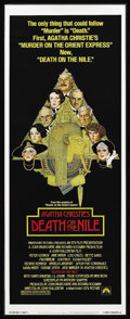 "Movie Posters:Mystery, Death on the Nile (Paramount, 1978). Insert (14"" X 36""). Mystery.Starring Peter Ustinov, Bette Davis, Mia Farrow, Olivia Hu..."