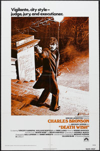 "Death Wish (Paramount, 1974). One Sheet (27"" X 41""). Crime. Starring Charles Bronson, Hope Lange, Vincent Gard..."