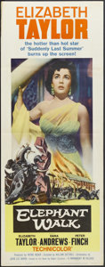 "Movie Posters:Adventure, Elephant Walk (Paramount, 1954). Insert (14"" X 36""). RomanticDrama. Starring Elizabeth Taylor, Dana Andrews, Peter Finch an..."
