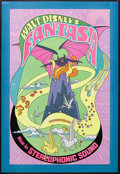 "Movie Posters:Animated, Fantasia (Buena Vista, R-1970). One Sheet (28"" X 41""). AnimatedFantasy. Starring Leopold Stokowski and the voices of Deems ..."