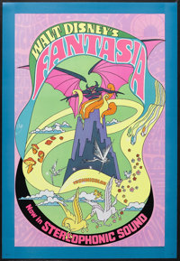 "Fantasia (Buena Vista, R-1970). One Sheet (28"" X 41""). Animated Fantasy. Starring Leopold Stokowski and the vo..."