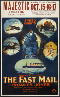 "The Fast Mail (Fox Film Corporation, 1922). Window Card (14"" X 22""). Action. Starring Charles ""Buck""..."
