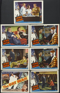 "The Fat Man (Universal International, 1951). Title Lobby Card (11"" X 14"") and Lobby Cards (6) (11""X 14&qu..."