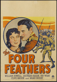 "The Four Feathers (Paramount, 1929). Window Card (14"" X 19.75""). The last mainstream silent release by a major..."