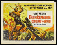 "Frankenstein Conquers the World (American International, 1966). Half Sheet (22"" X 28""). Sci-Fi Horror. Starrin..."