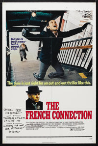 "The French Connection (20th Century Fox, 1971). One Sheet (27"" X 41""). Crime. Starring Gene Hackman, Fernando..."