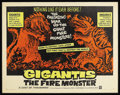 "Movie Posters:Science Fiction, Gigantis the Fire Monster (Warner Brothers, 1959). Half Sheet (22"" X 28""). Sci-Fi Action. Starring Hiroshi Koizumi, Setsuko ..."