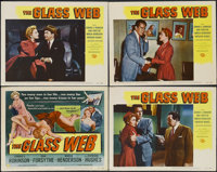 """The Glass Web (MCA/Universal, 1953). Title Lobby Card (11"""" X 14"""") and Lobby Cards (3) (11"""" X 14""""). C..."""