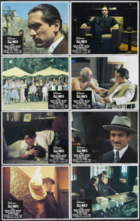 """The Godfather Part II (Paramount, 1974). Lobby Card Set of 8 (11"""" X 14""""). Crime Drama. Starring Al Pacino, Rob..."""