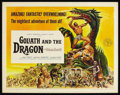 "Movie Posters:Adventure, Goliath and the Dragon (American International, 1960). Half Sheet(22"" X 28""). Action Adventure. Starring Mark Forest, Brode..."