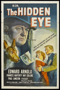 "Movie Posters:Film Noir, The Hidden Eye (MGM, 1945). One Sheet (27"" X 41""). Mystery. Starring Edward Arnold, Frances Rafferty, Ray Collins, Paul Lang..."