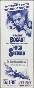 "Movie Posters:Film Noir, High Sierra (Warner Brothers, R-1952). Insert (14"" X 36""). Crime. Starring Humphrey Bogart, Ida Lupino, Arthur Kennedy, Joan..."