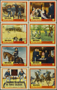 "The Horse Soldiers (United Artists, 1959). Lobby Card Set of 8 (11"" X 14""). War. Starring John Wayne, William..."