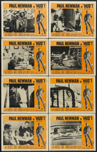"Hud (Paramount, 1963). Lobby Card Set of 8 (11"" X 14""). Drama. Starring Paul Newman, Melvyn Douglas, Patricia..."